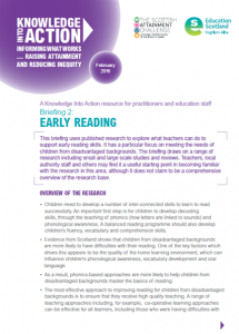 Education Scotland Briefing on Early reading