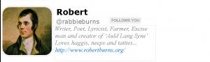 Burns on Twitter