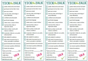 Tick the Talk SOLO